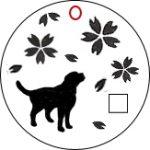 犬用ネックレス・トップ「ラブラドールレトリバー×桜」デザイン画