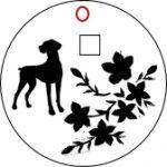 犬用ネックレス・トップ「ワイマラナー×皐月」デザイン画