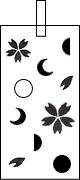 桜×月の満ち欠け k18トップ デザイン