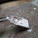 革(皮)入り 和柄ネックレス 制作工程