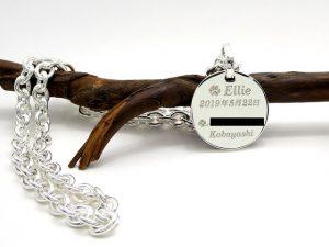 オーダーメイド 犬用ネックレス 迷子札裏面レーザー文字